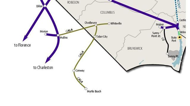 Rail line connecting NC and Myrtle Beach area to open soon