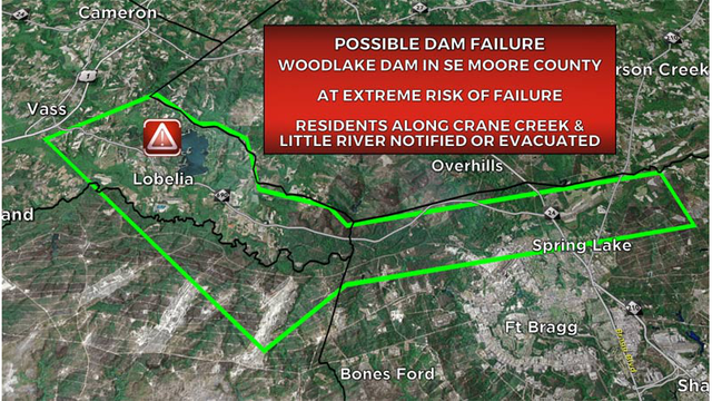 Moore County dam at 'extreme risk' of failure