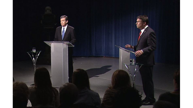 McCrory and Cooper square off in NC gubernatorial debate