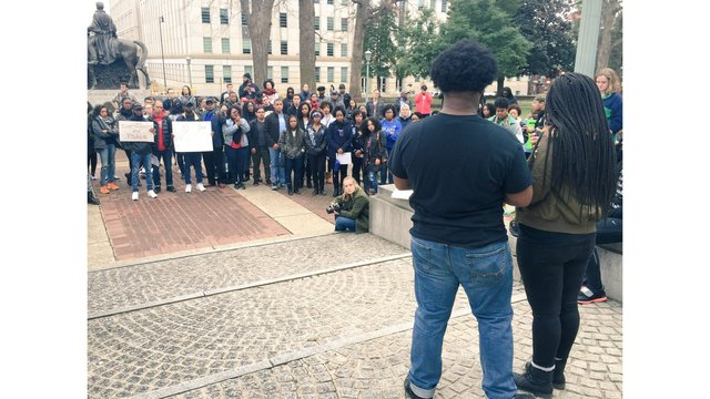 Students air grievances during 'Reclaim MLK Rally and March' in Raleigh