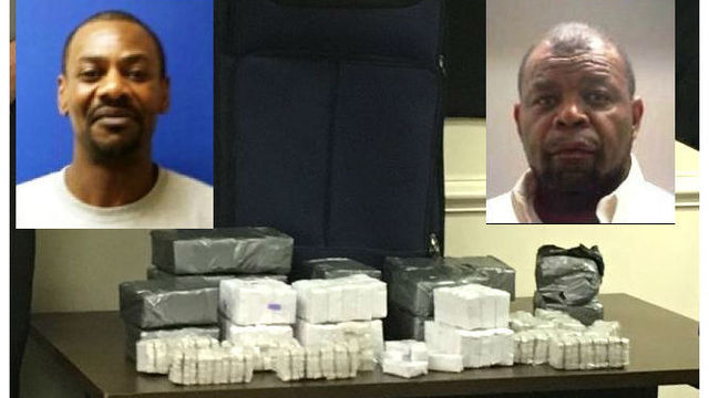 NC pair nabbed with nearly 700 heroin 'bricks' worth about $347,000, officials say