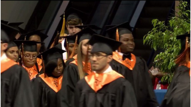 Diplomas withheld after audience cheered Fayetteville graduates