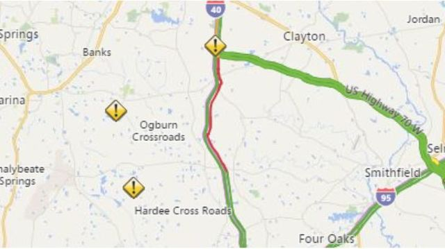 I40 reopens at US 70 after vehicle crash in Johnston County WNCN