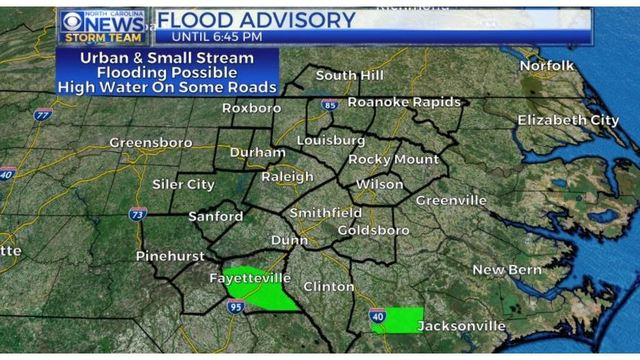 Flood advisory for Cumberland County after some streets under water