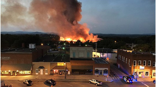 Huge fire breaks out at NC mill