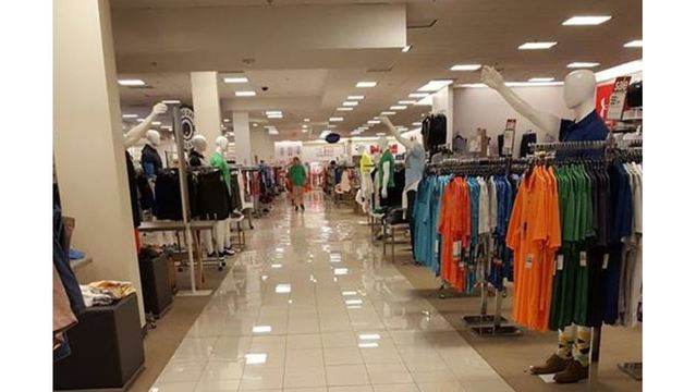 Mannequins in Triangle store appear to show Nazi salute