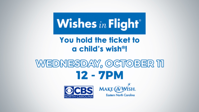CBS North Carolina to broadcast 'Wishes in Flight Airline Miles Drive' on Wednesday