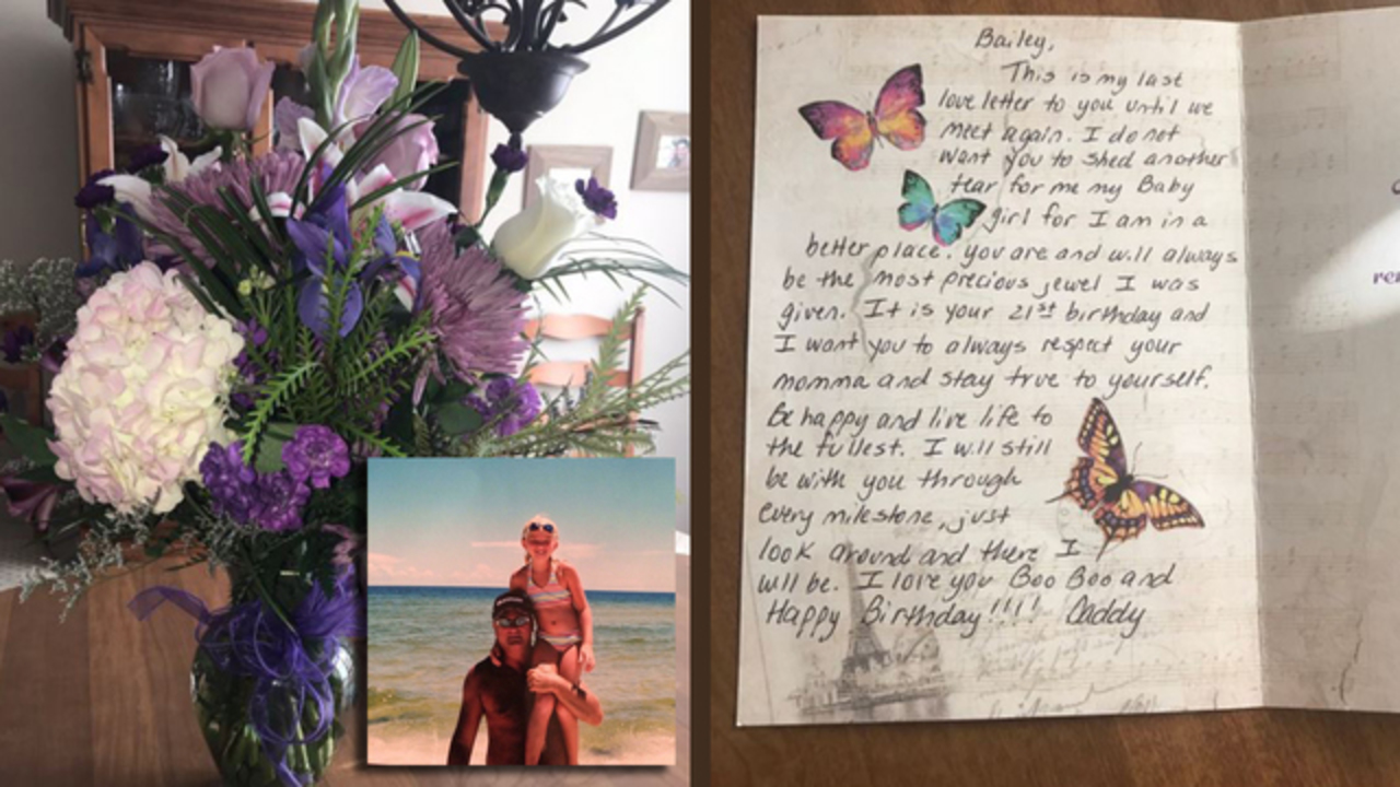Tennessee Woman Gets 21st Birthday Surprise From Dad 5 Years After His  Death   WNCN