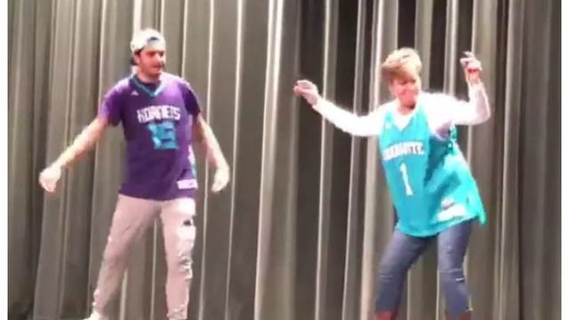 Video explodes online of NC mom and son hip-hop dance at school talent show