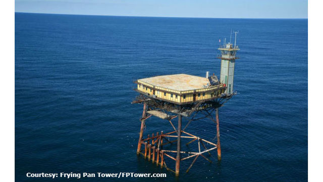 Frying Pan Tower for sale off NC coast