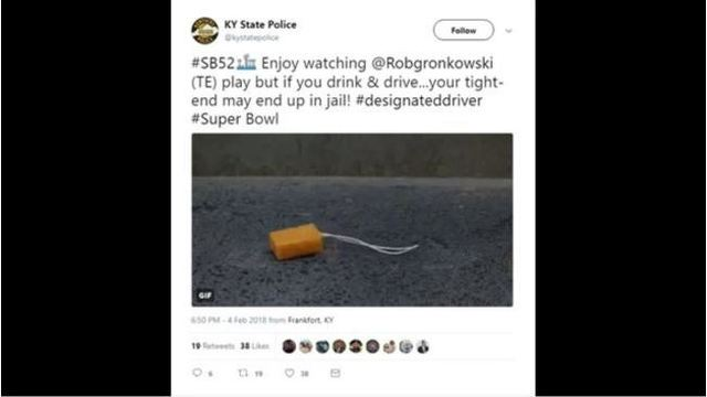 Kentucky State Police issues apology for Super Bowl tweet alluding to prison rape