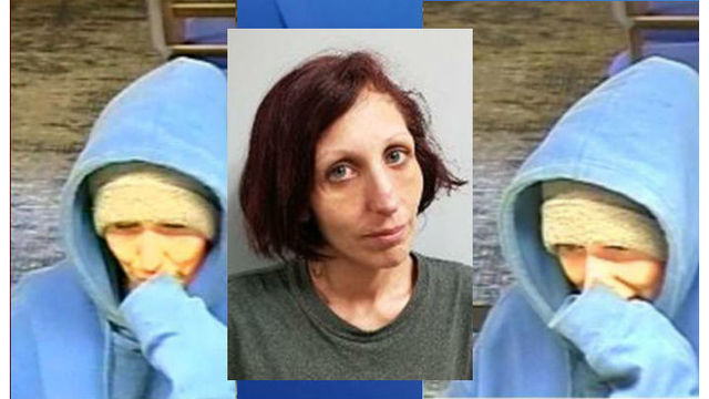 Woman charged in NC bank robbery