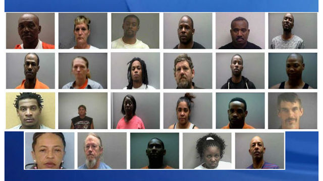 23 nabbed in drug dealing operation in Edgecombe County, sheriff says