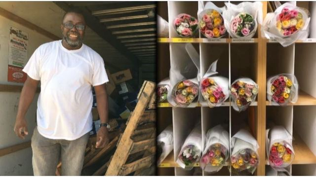 NC man donates bouquets of flowers to all teachers in a school system