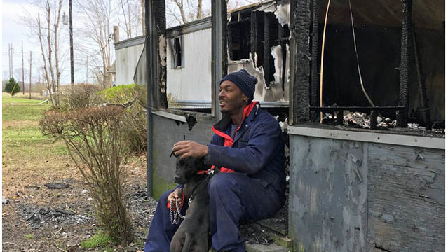 NC man's pit bull saves him from fire