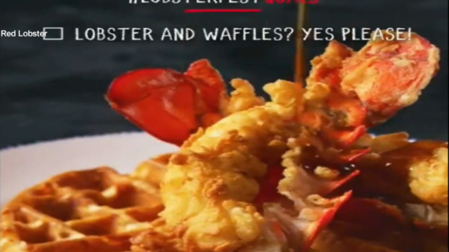 Lobster and waffles? Red lobster says yes