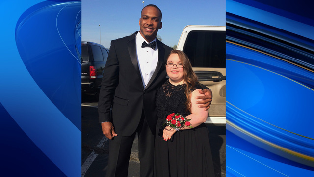 NFL player takes teen to prom for special-needs students