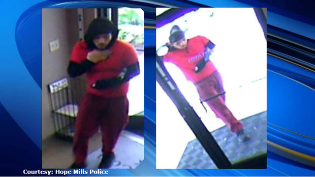 Hope Mills police search for bank robber who fled in Ford Explorer