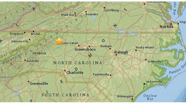 Earthquake rattles parts of western NC