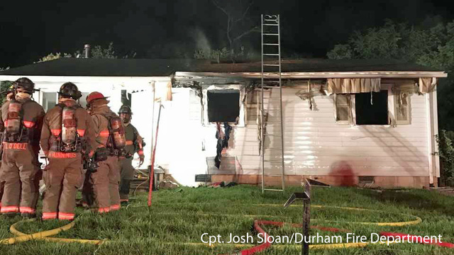 Child playing with lighter ignites Durham house fire