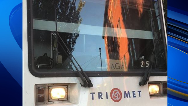 'MAGA' sign seen in front of Oregon train; company investigating