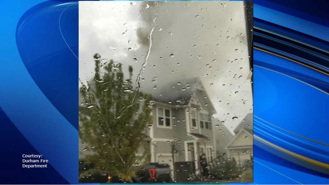 Lightning sparks fire that displaces 8 from Durham home, officials say