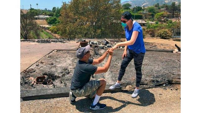 Man finds rings in ashes of home burned by wildfire, proposes again