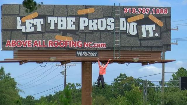 NC drivers are calling 911 about a mannequin hanging from a billboard