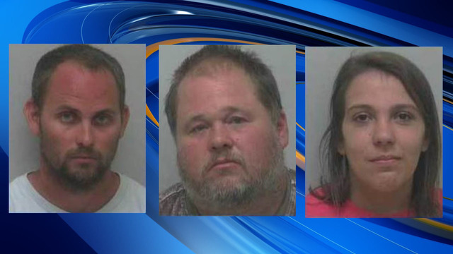 Deputies: 3 arrested after killing 8 dogs by starvation in NC property