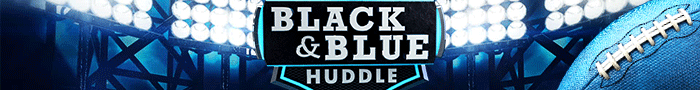 black and blue banner