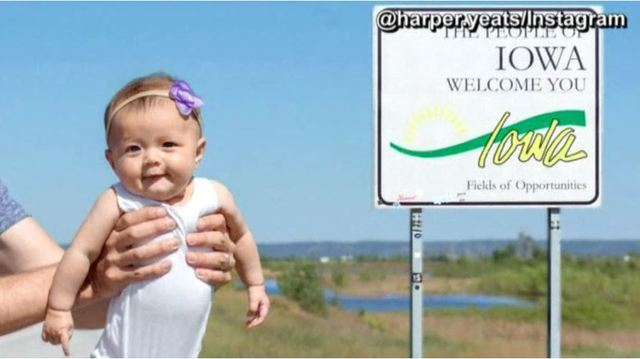 Baby on track to visit all 50 states before she turns 6 months old