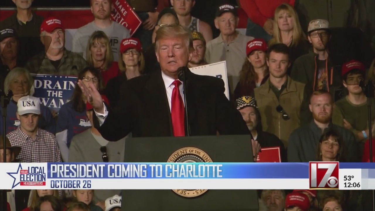 President Trump returning to NC amid 2 tight races