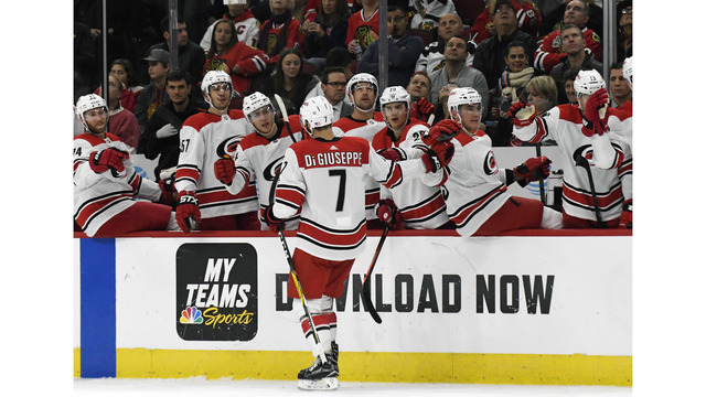 'Canes hang on for win in Chicago, snapping 5-game losing streak